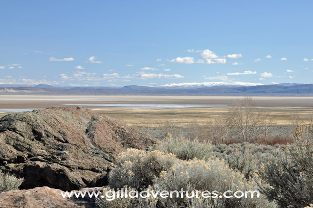 Alvord Desert from Pike Creek Boulders
