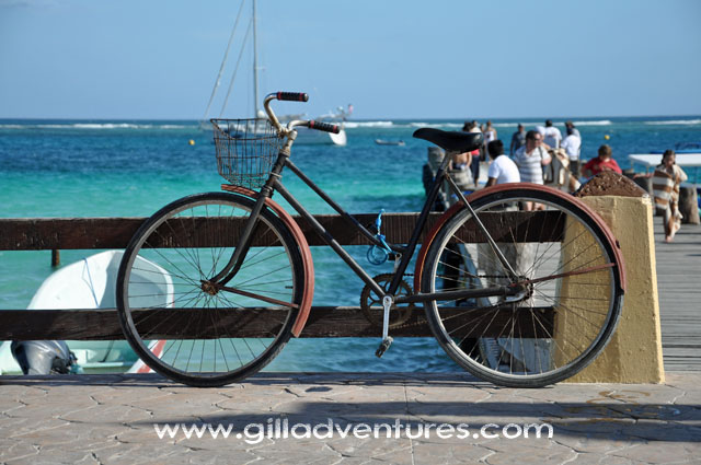 Puerto Morelos dock and bike