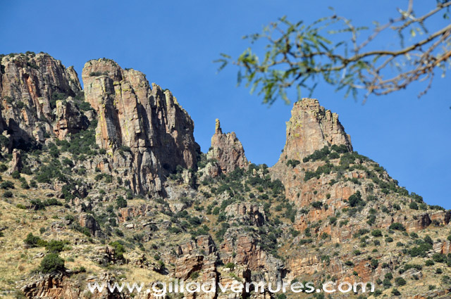 finger rock formation above the finger rock trail