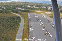 airfield from bush plane, anchorage, alaska