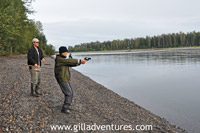 shooting into the water on Lake Creek, Alaska