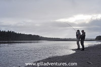 late day fly fishing on the Yentna in Alaska