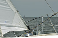 Sailing from the Magothy onto Chesapeake Bay
