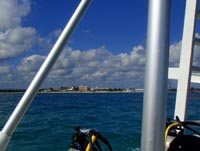 Puerto Morelos from dive boat