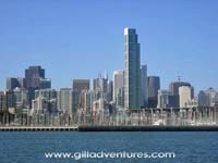 San Francisco skyline from the water