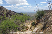 ventana canyon trail view of Tucson
