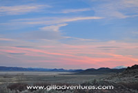 sunset over the alvord desert, near fields denio road