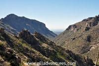 sabino canyon from phonelne trail