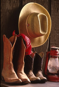 dude ranch cowboy boot image from the Rock Springs Guest Ranch photo library