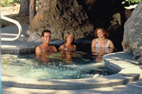 the hot tub at rock springs guest ranch