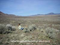 Family trip to the Alvord Desert, relaxed outdoor adventure.