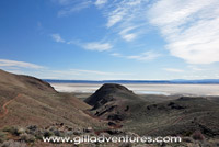 looking down on the alvord desert from the steens