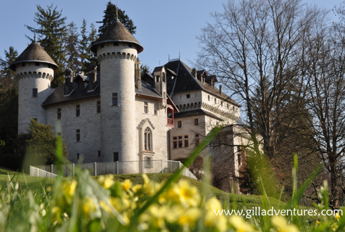 The castle near Lac du Bourget, France, called Chateau La Peyrousse