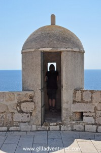 Looking out to the Adriatic from a guard tower on the walls of Dubrovnik