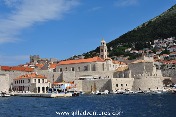 Dubrovnik walls and harbor